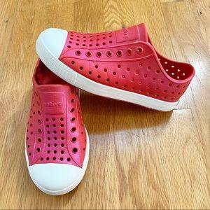NATIVE shoes size 12 toddler girl pink shimmer slip on